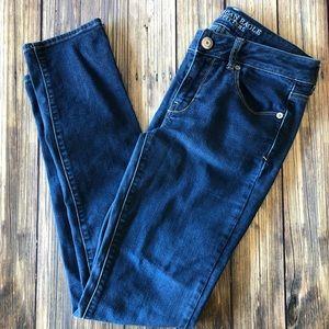 American Eagle Blue Skinny Jeans 4